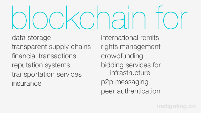 sharing and the blockchain